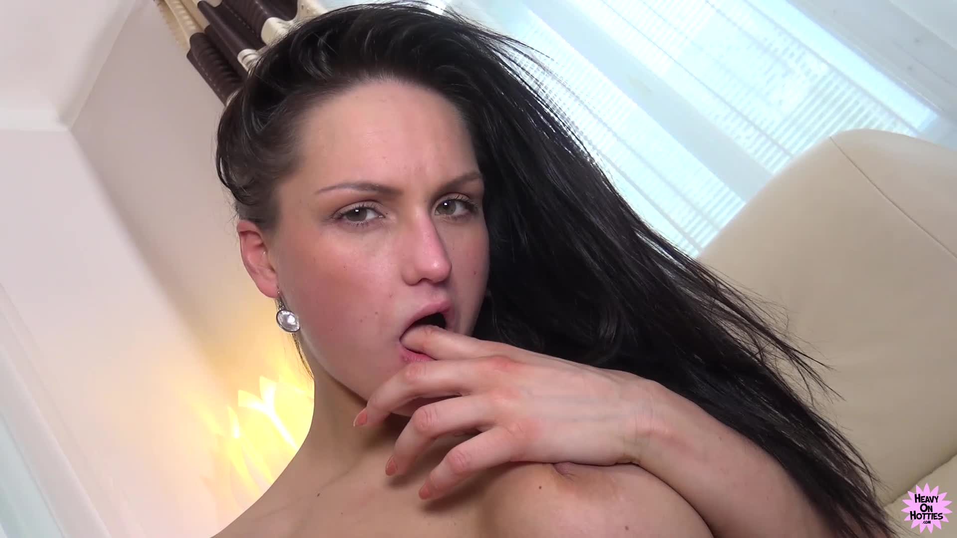 Brunette hottie barbara bieber goes solo with a red sex toy 6